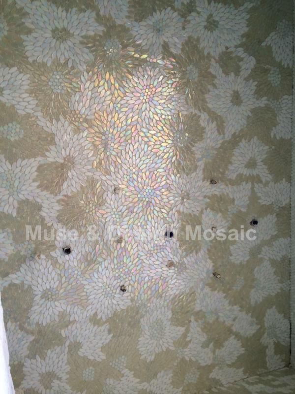 tile floor tile White flower kitchen backsplash Waterproof Wallpaper 600x800