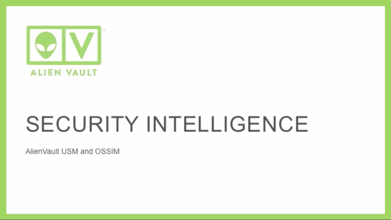 Security Intelligence with AlienVault 1920x1080
