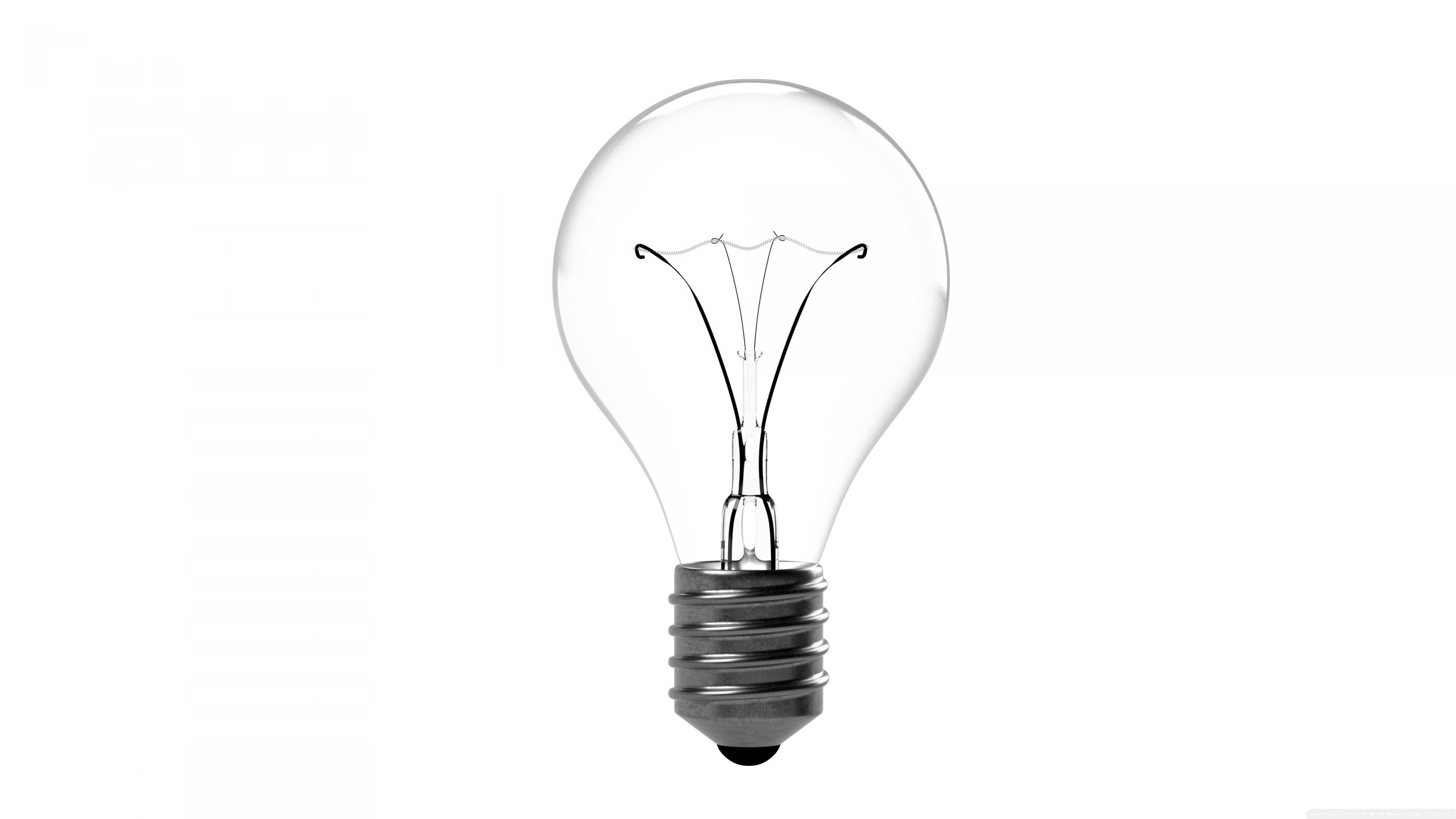 Incandescent Light Bulb 4K HD Desktop Wallpaper for 4K Ultra HD 3840x2160