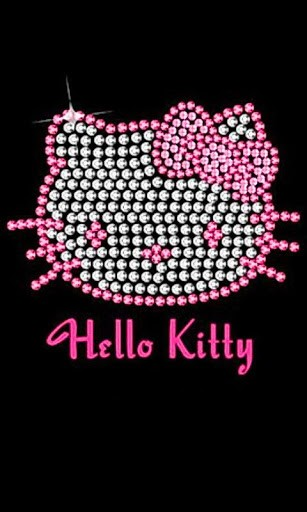 307x512px Hello Kitty Black Background Wallpapersafari
