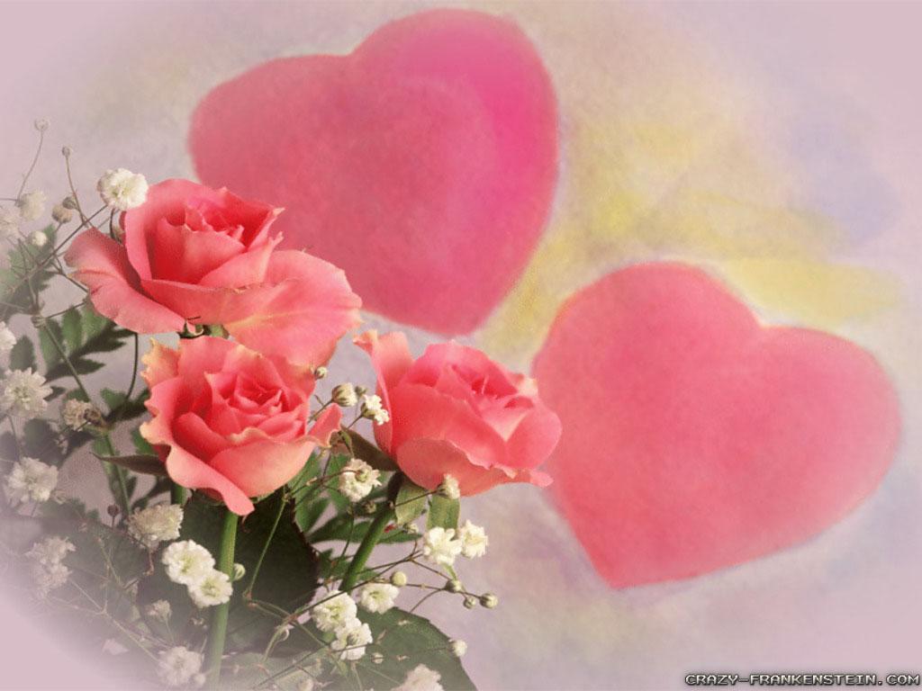 hearts and flowers wallpaper wallpapersafari