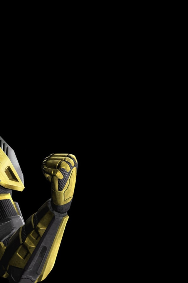 640x960 Mortal Kombat Cyrax Iphone 4 wallpaper 640x960
