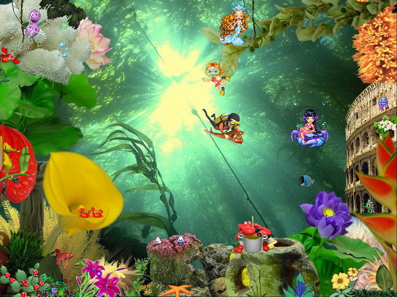 Aquarium Screensaver   Animated Aquaworld   FullScreensaverscom 800x600