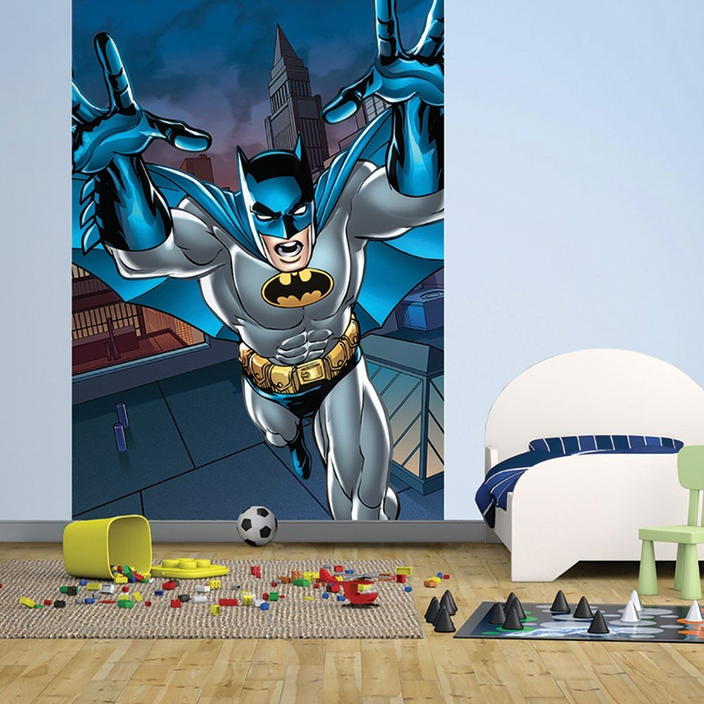 Home Murals 1 Wall 1 Wall Easy Hang Wallpaper Mural Batman 1000x1000
