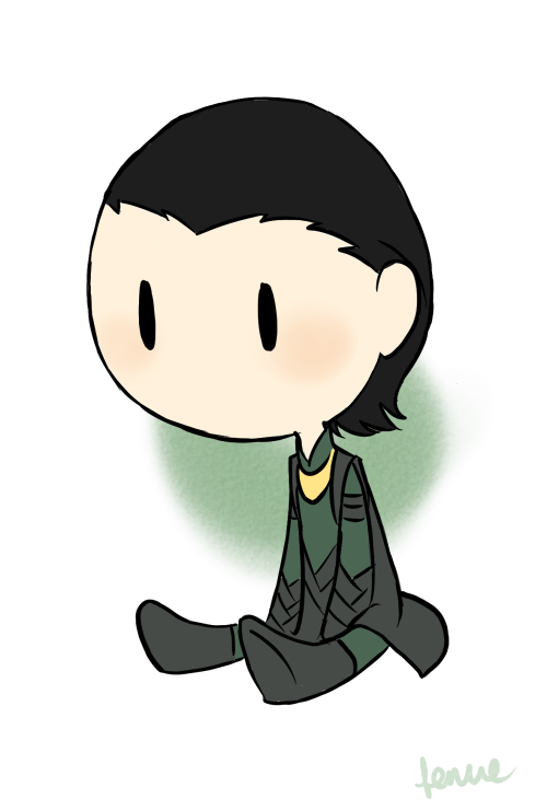 chibi Loki by fenue 500x740