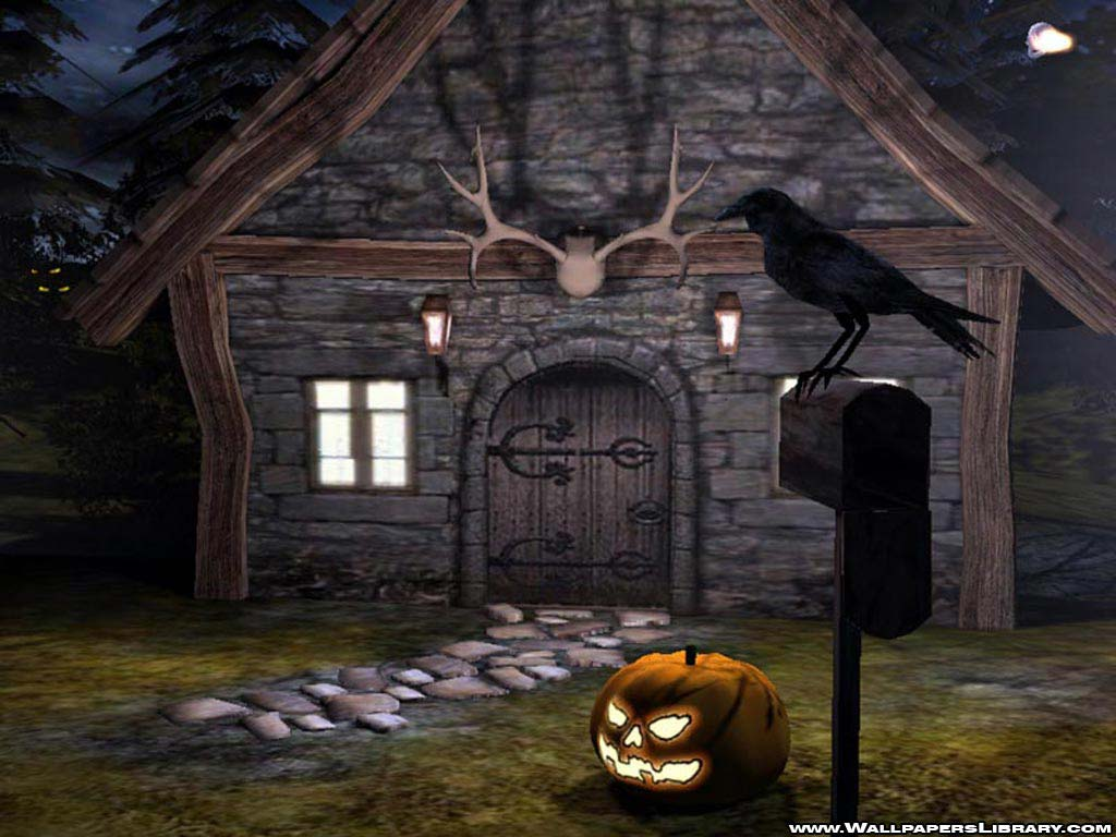 Halloween House Wallpapers   First HD Wallpapers 1024x768