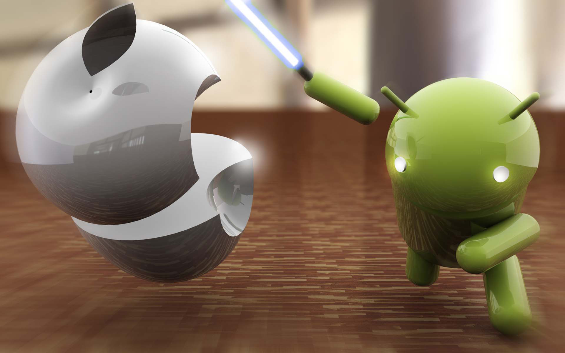 Apple vs Android wallpaper 2240 1920x1200