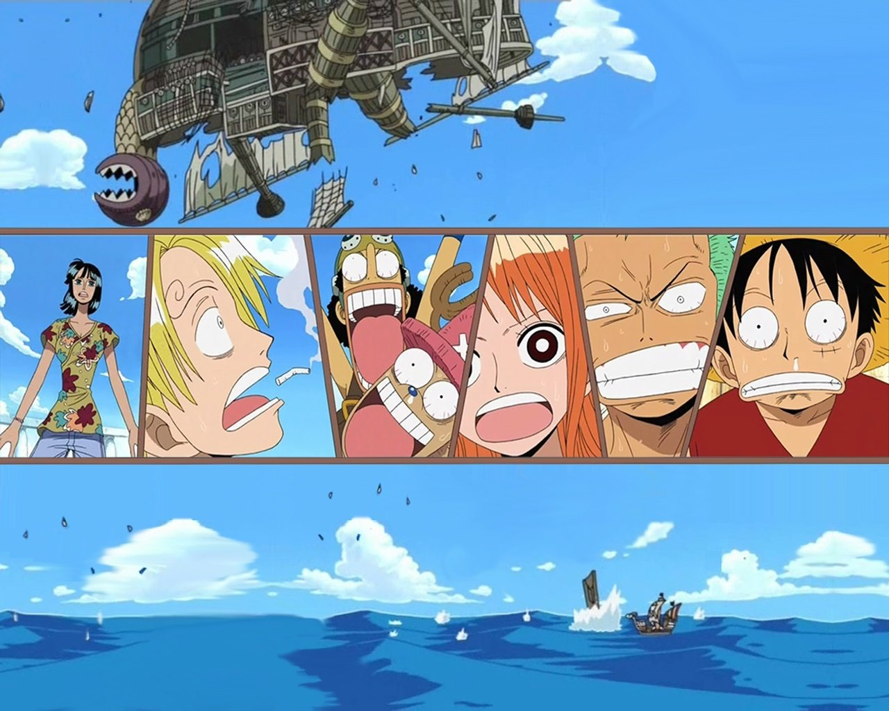 One Piece At Sea Characters desktop wallpaper WallpaperPixel 1280x1024