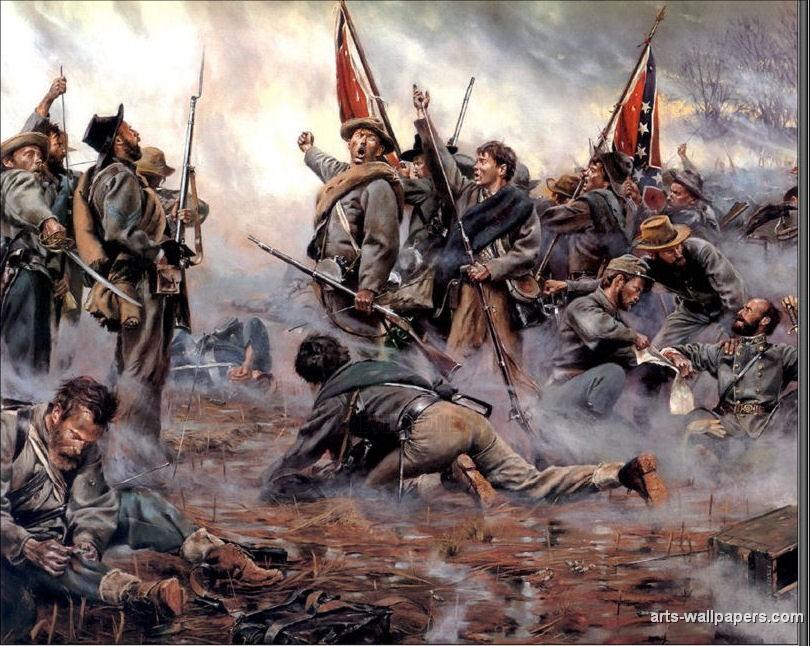 American Civil War Paintings Art Prints Gallery Pictures Artworks 810x646