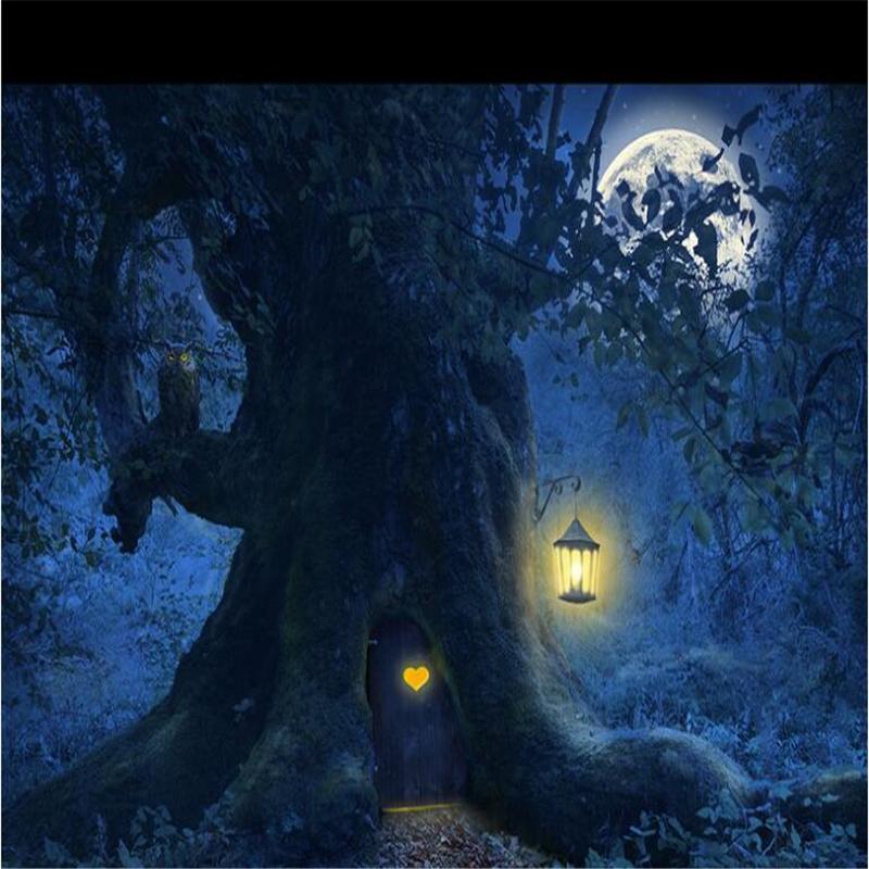 beibehang Custom wallpaper photos HD fantasy beautiful forest tree 800x800