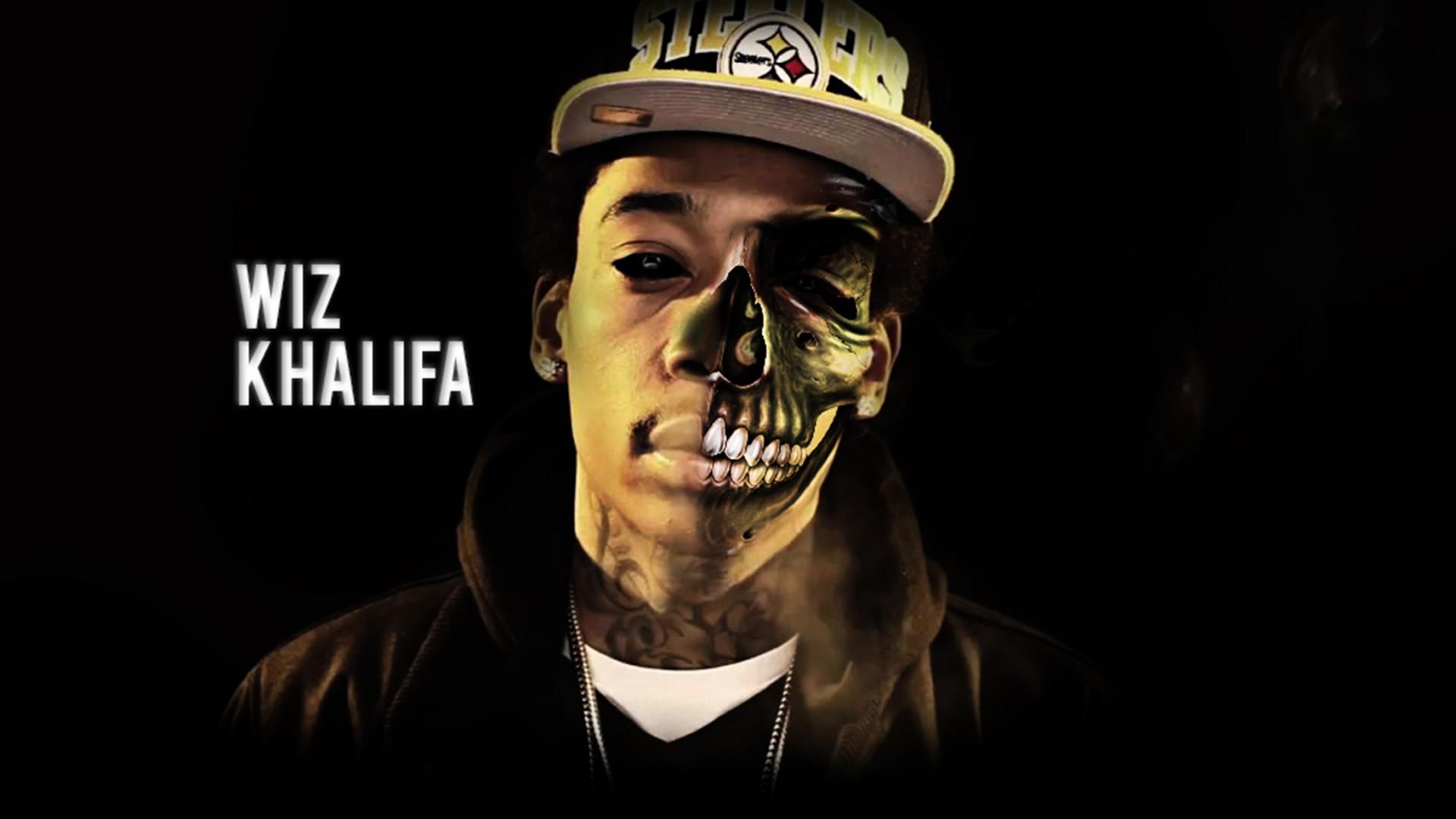 Wiz Khalifa Half Zombie Face Rap Wallpapers 1920x1080