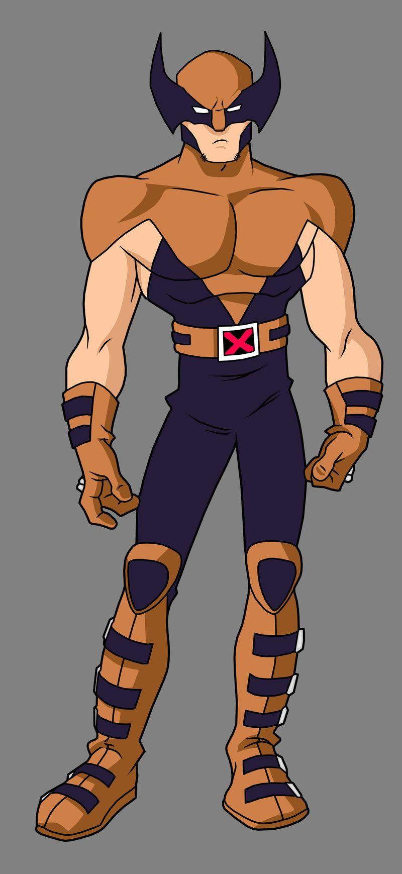 Wolverine X Men Evolution TV show costume Marvel X men 800x1739