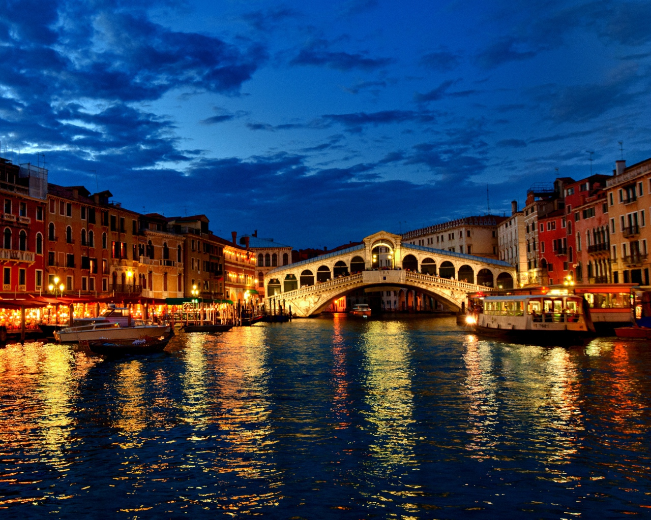 Venice At Night HD Wallpaper Background Images 1280x1024
