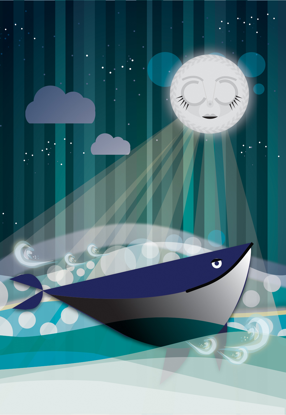 ocean scene Completed Computer Arts tutorial in Adobe Illustrator 980x1420