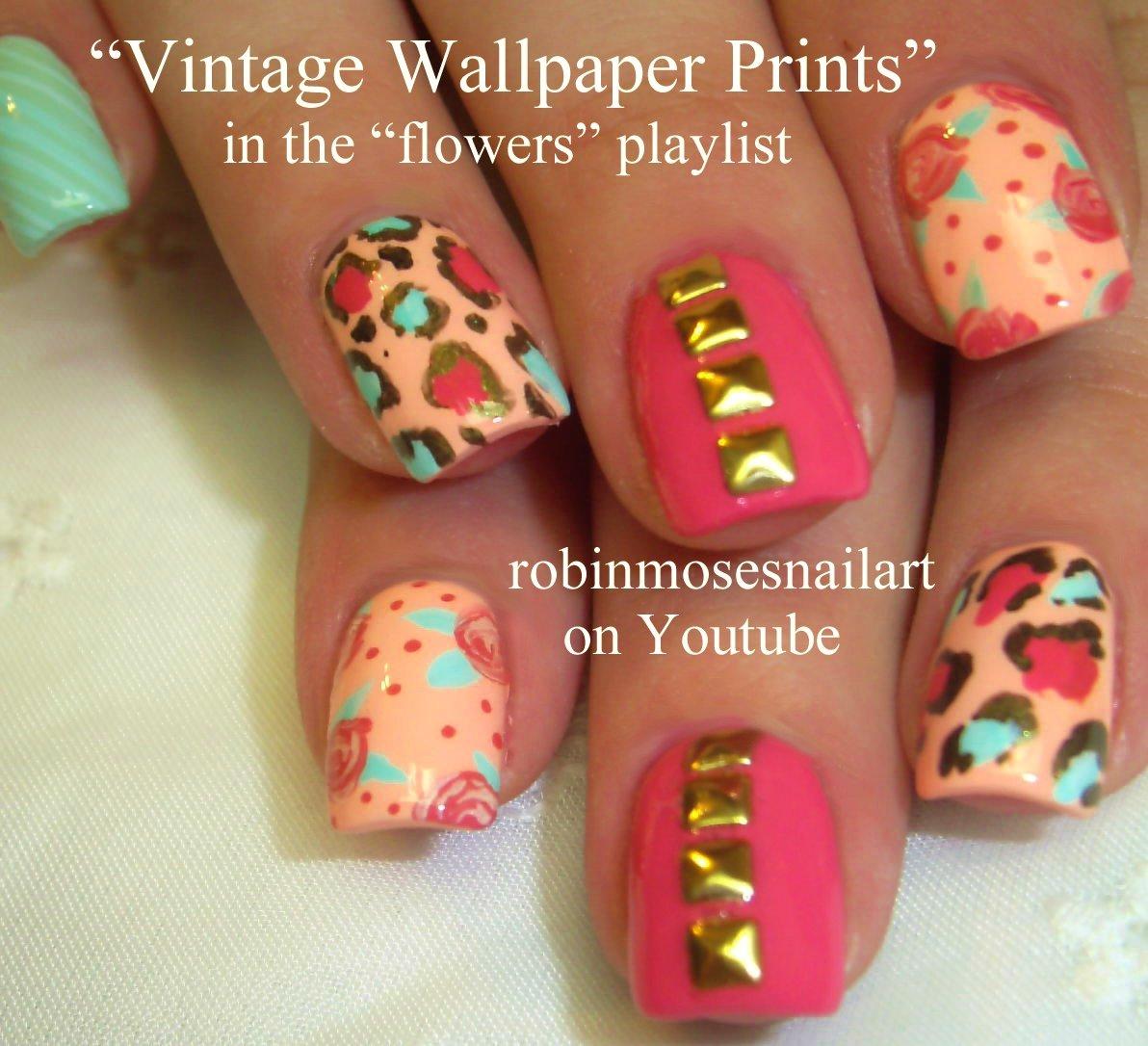 Robin Moses Nail Art vintage wallpaper print nails wallpaper nails 1192x1086