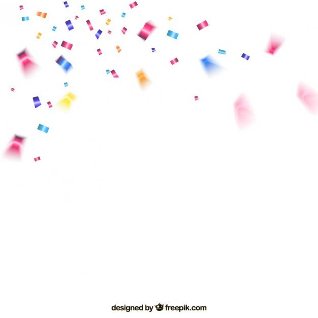 Colorful confetti background Vector Download 626x626