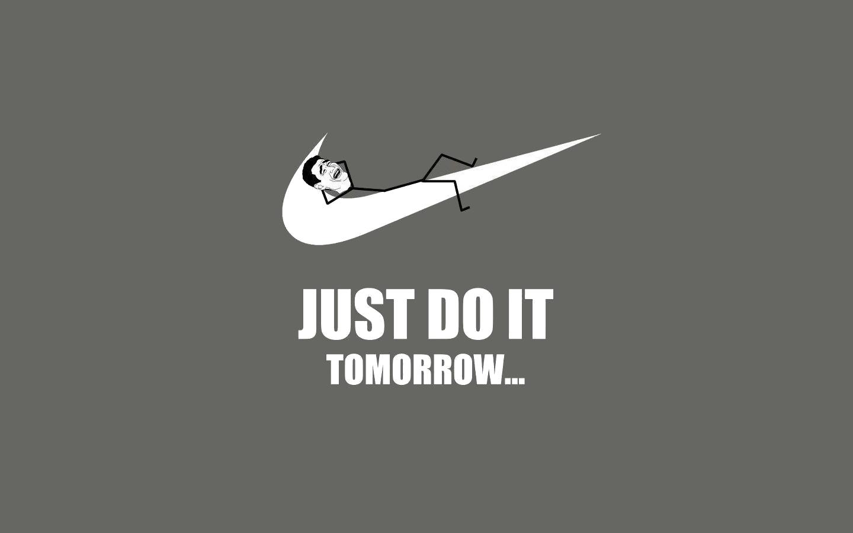 Just do it tomorrow funny Trollface Meme HD Wallpaper 1440x900