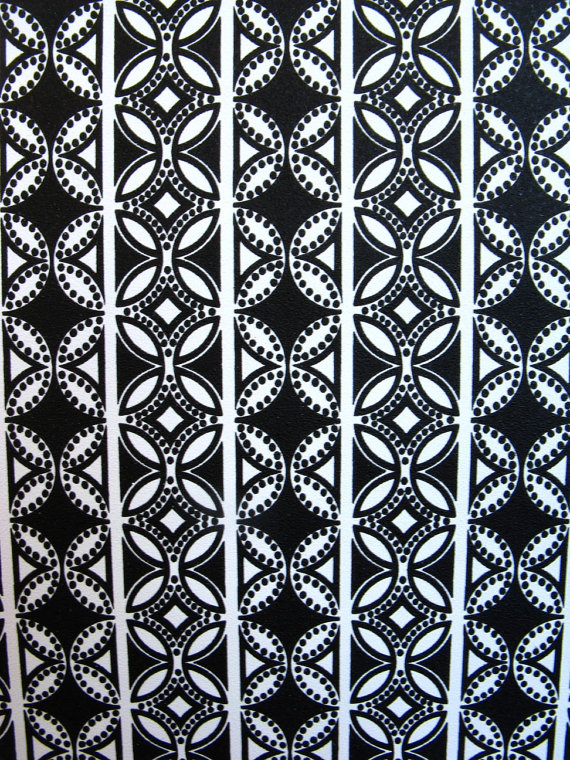 Items similar to vintage wallpaper   black and white geometric circles 570x760