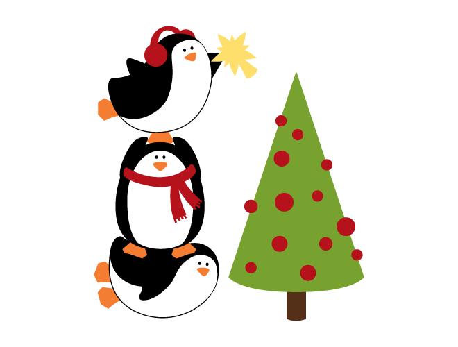 christmas penguin wallpaper