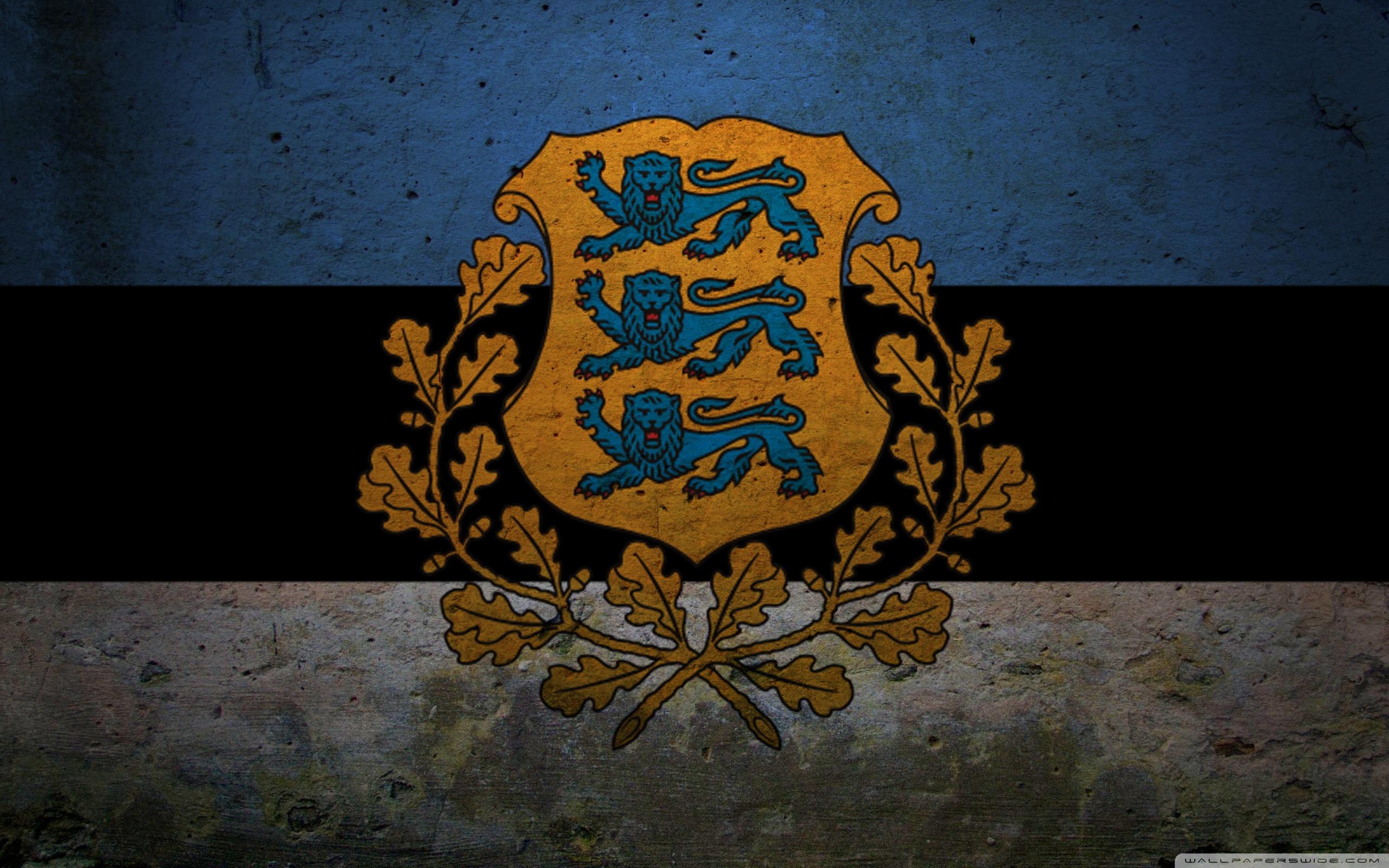 Presidential Flag Of Estonia 4K HD Desktop Wallpaper for 4K 2560x1600