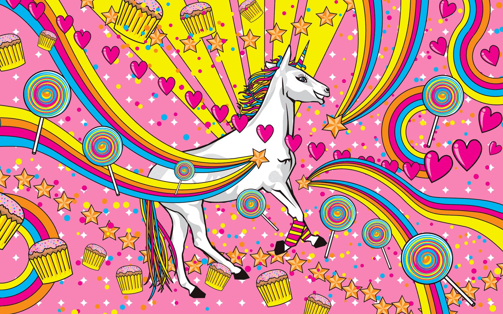 Pink Unicorn Wallpaper - WallpaperSafari