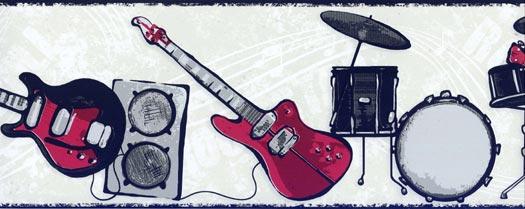 Beige Rock N Roll Wallpaper   Wallpaper Border Wallpaper inccom 525x209