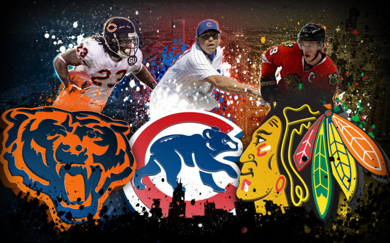 Logos of the Chicago Bears Chicago Cubs and Chicago Blackhawks These 782x489
