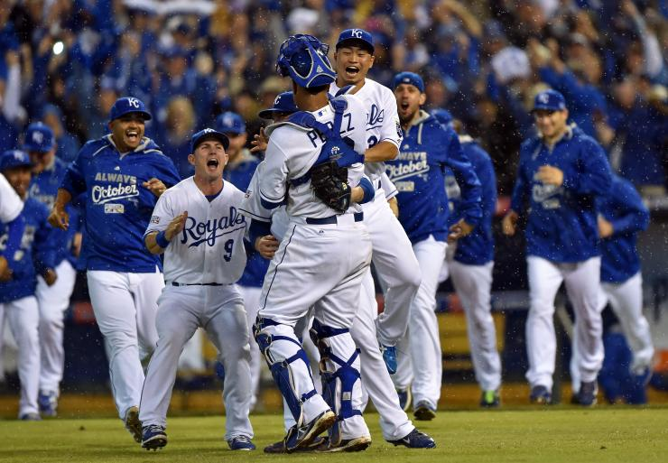 City Royals are four wins away from reaching their first World Series 740x513