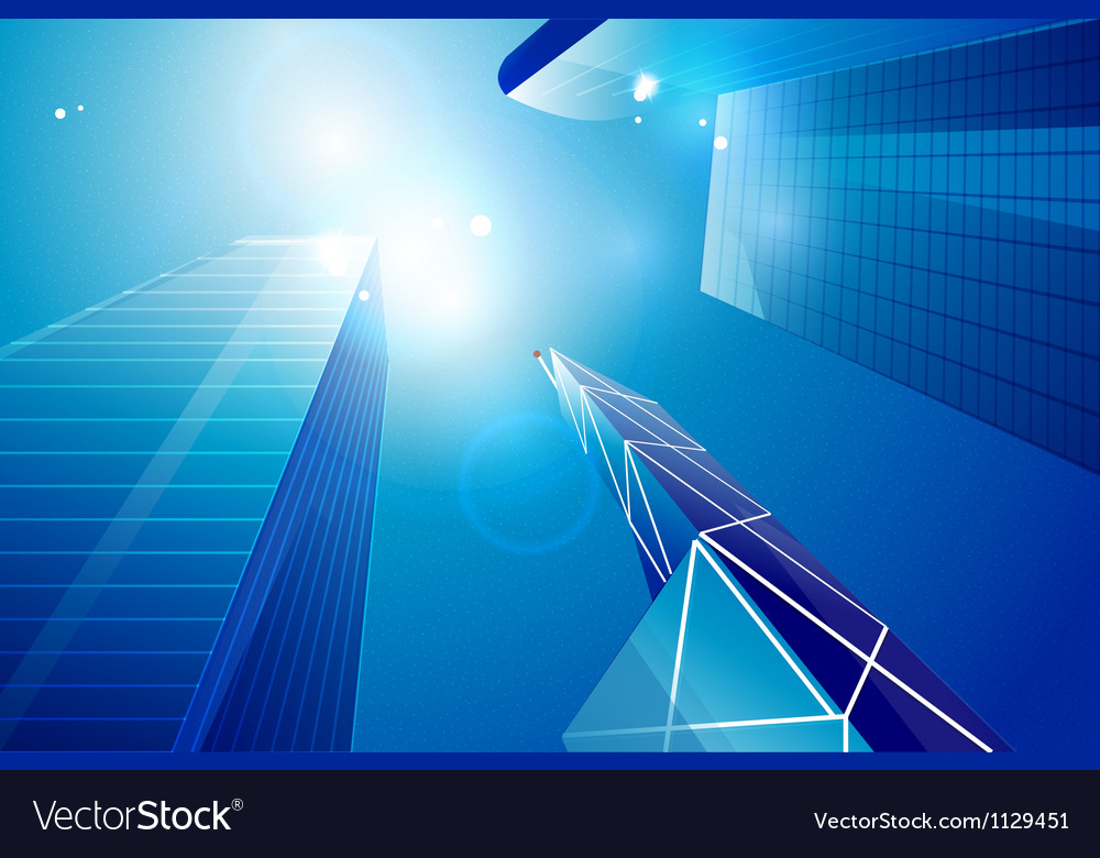 Business center skyscrapers background Royalty Vector 1000x780