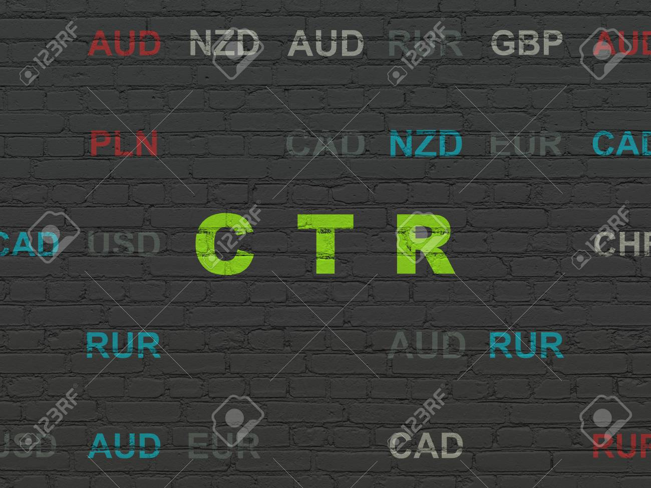 Finance Concept Painted Green Text CTR On Black Brick Wall 1300x975