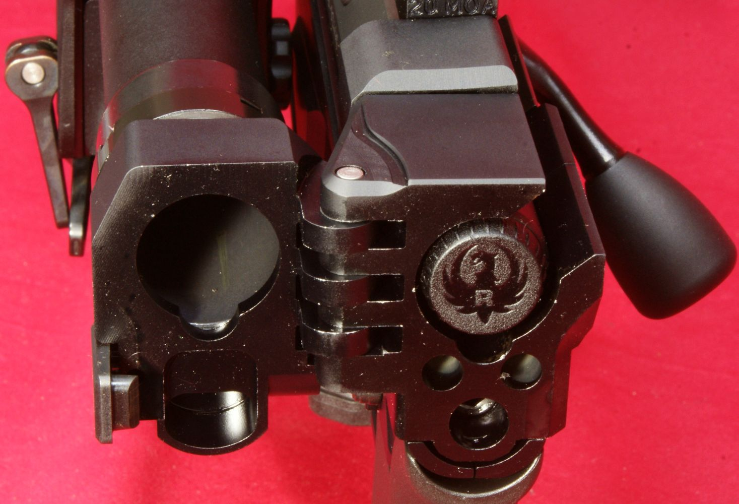 Ruger did a nice job displaying their logo on the end of the bolt 1467x1000