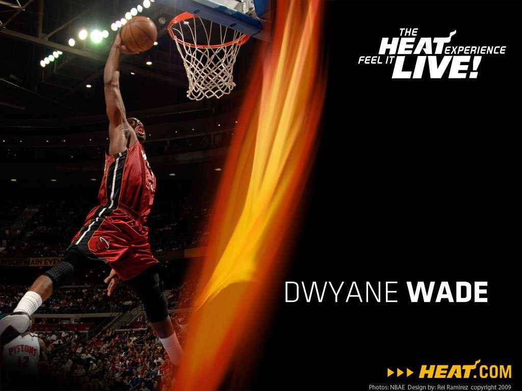 10 Miami Heat season Dwyane Wade dunk Wallpaper   Miami Heat Wallpaper 1024x768