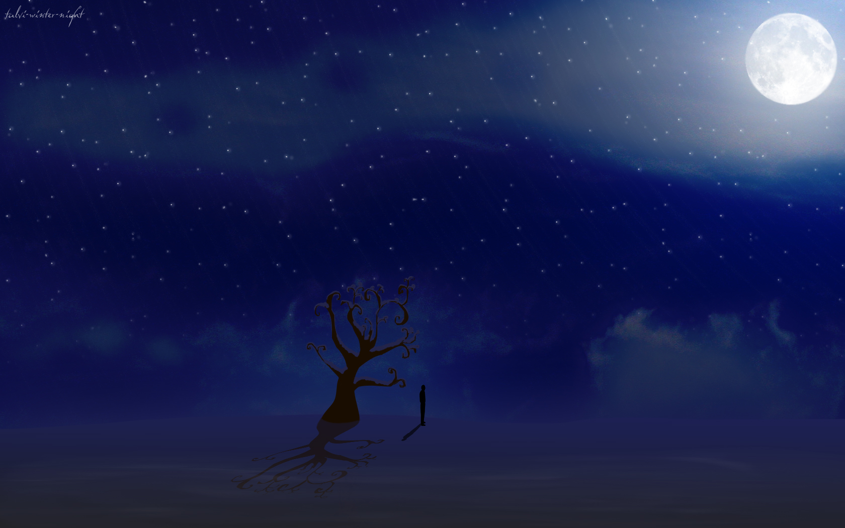 Sky Desktop Backgrounds and Wallpaper   talvi winter night Widescreen 1680x1050