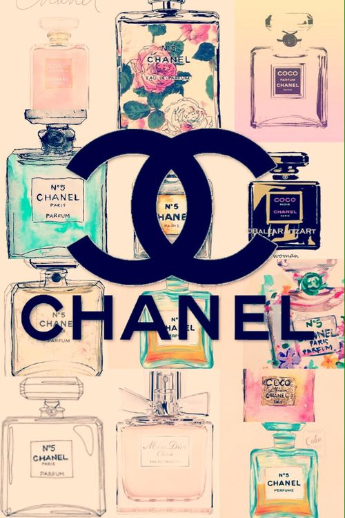 Cute Chanel Vintage Perfume Wallpaper We Heart It Iphone Wallpapers 500x750
