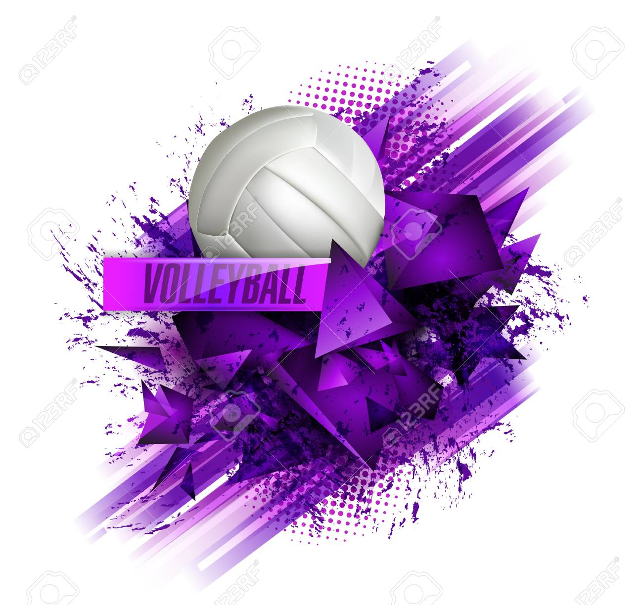 Volleyball Text On An Abstract Background Sports Royalty 1300x1224