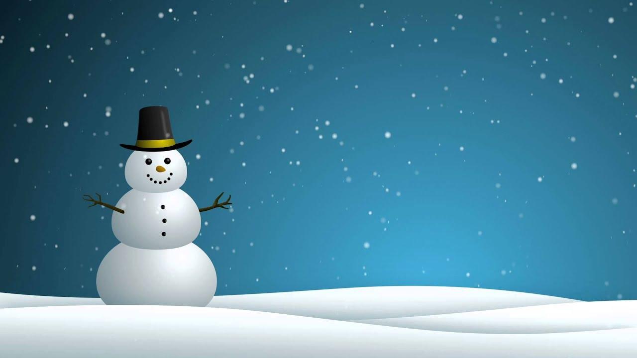 Snowman   HD Background Loop 1280x720