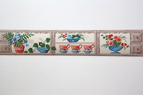 1500 12 ft roll of vintage wallpaper border measuring about 3 inches 570x380