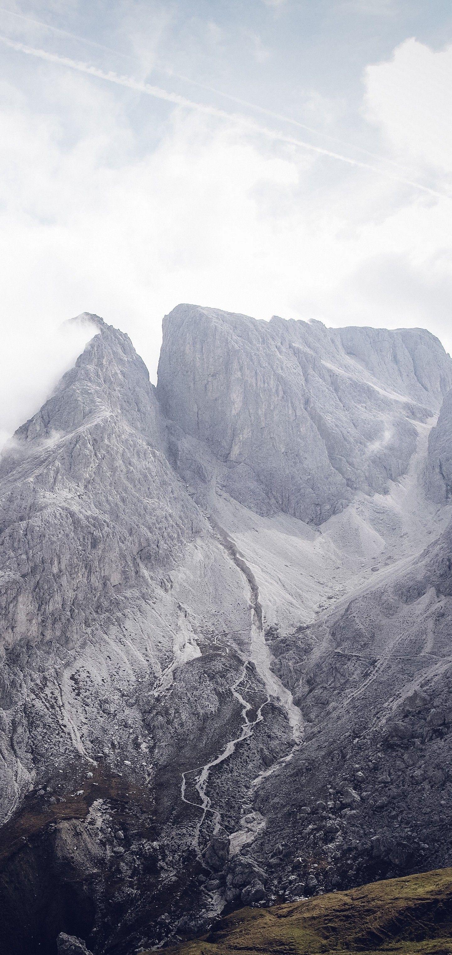 South Tyrol Bolzano Mountains Clouds Wallpaper   [1440x3040] 1440x3040