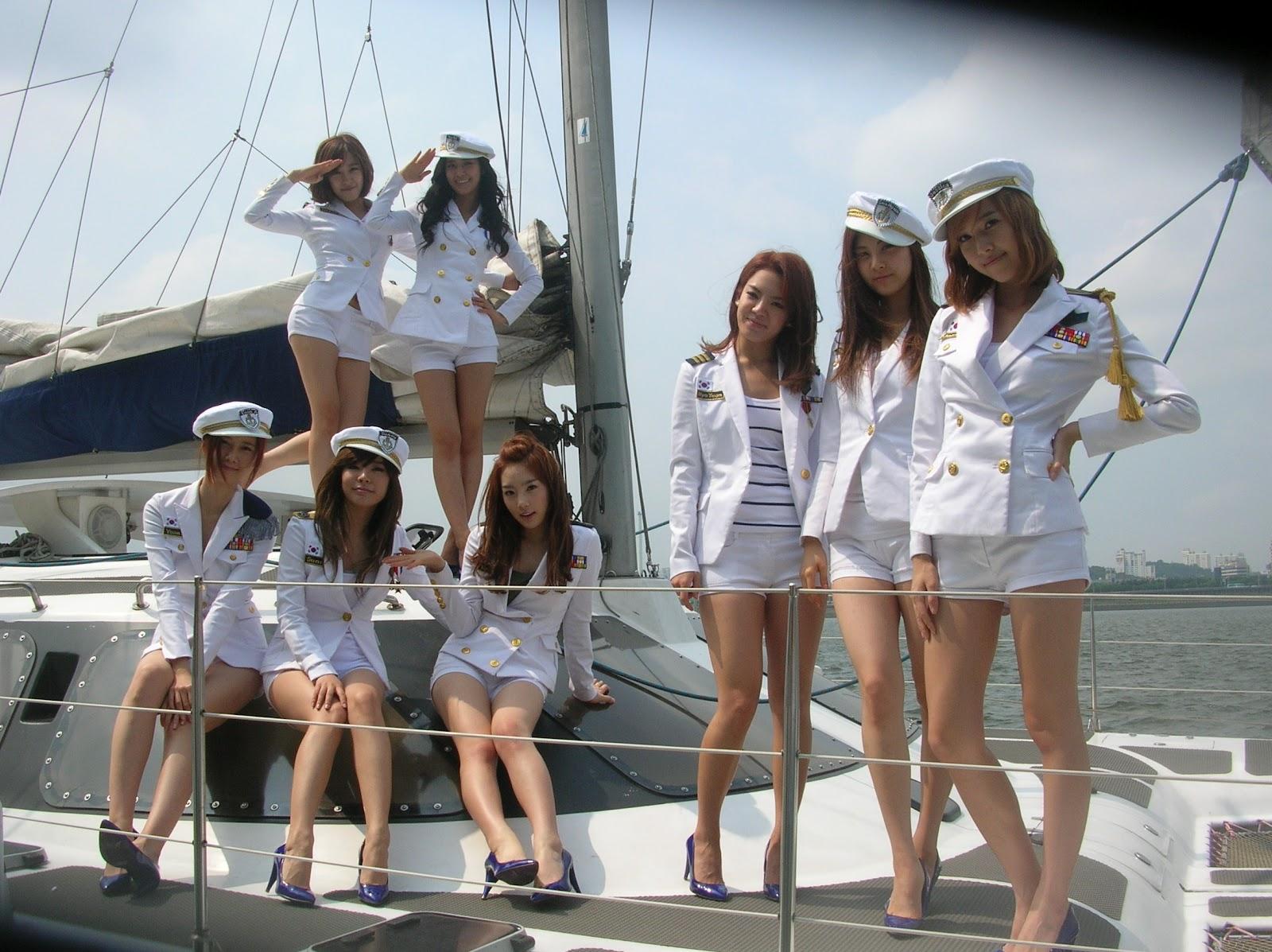 SNSD Sexy Sailor Girls Wallpaper | SNSD Artistic Gallery