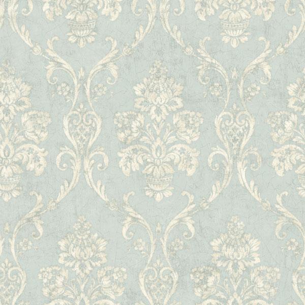 Om91901 Light Blue Damask Domenico Raymond Waites Wallpaper 600x600