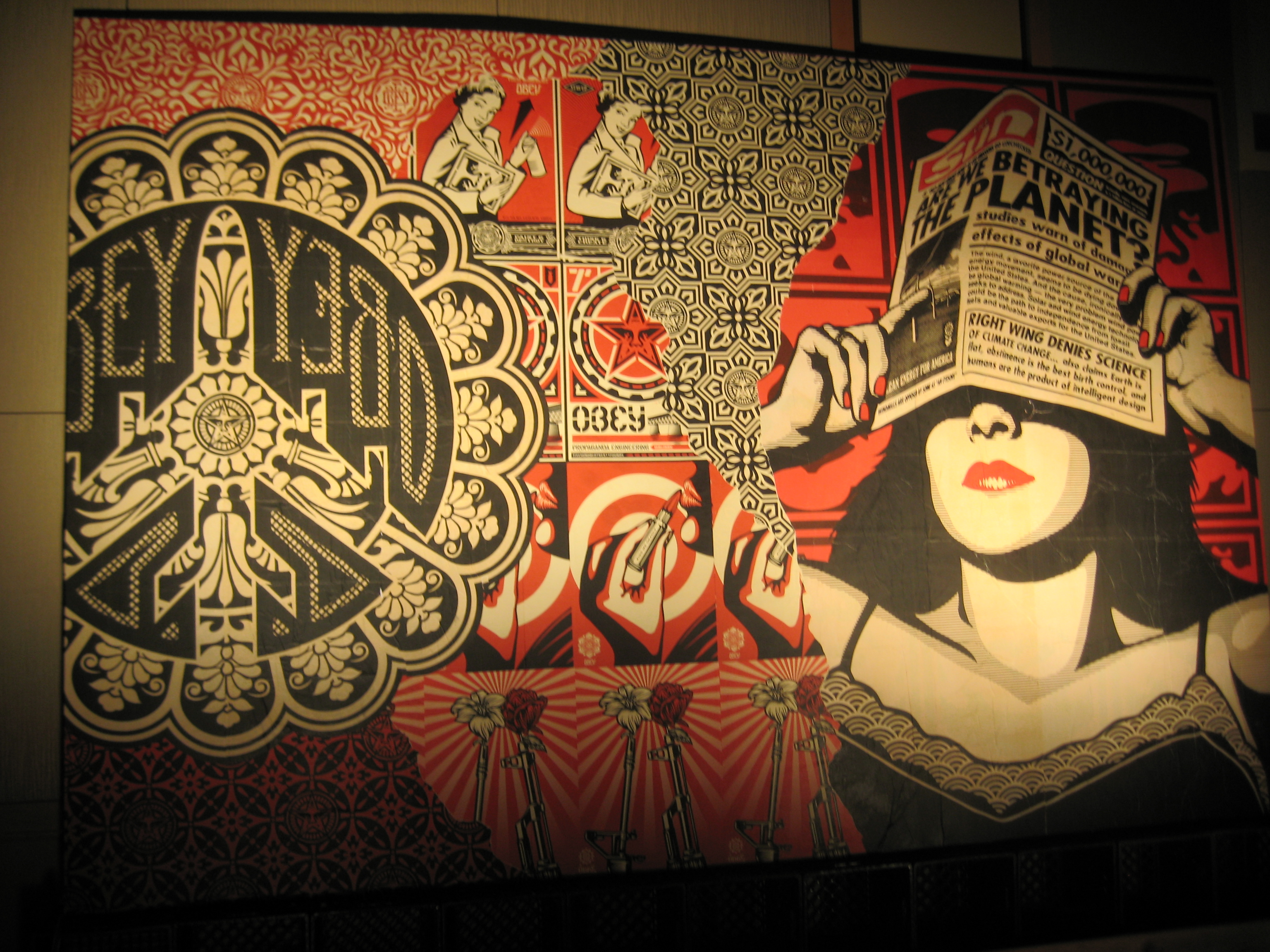 Obey Art Wallpaper Obey art wallp 3072x2304
