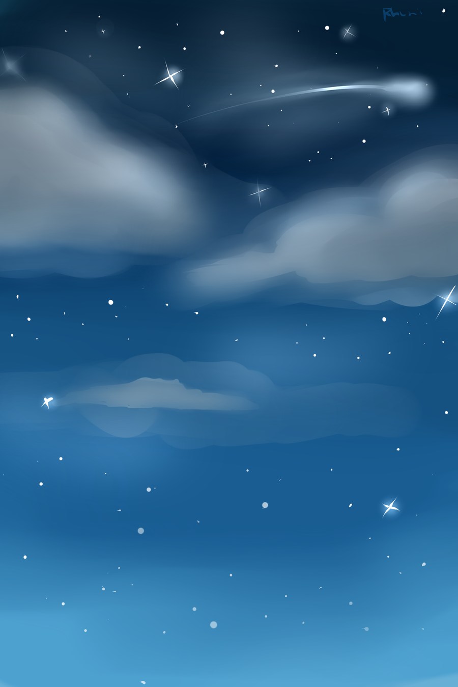 Night Sky Custom Background by Rhuni 900x1350