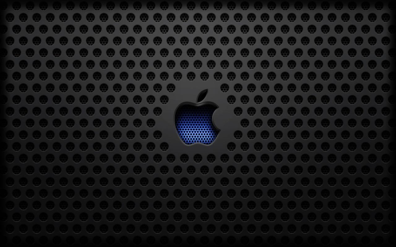 Carbon Grill Apple Logo Desktop Wallpaper 1280x800