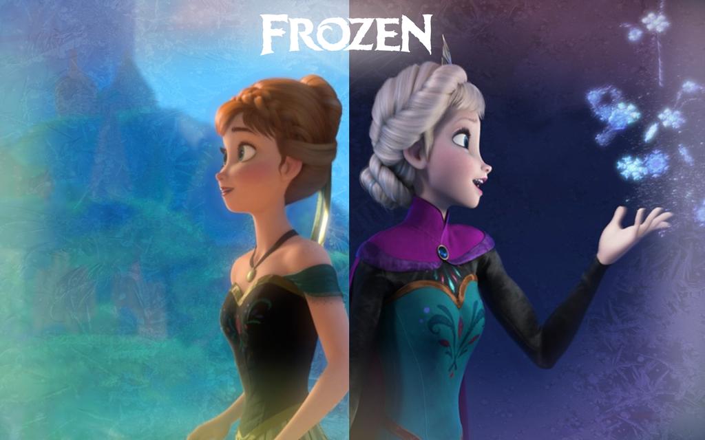 Anna And Elsa Frozen Wallpaper Wallpapersafari