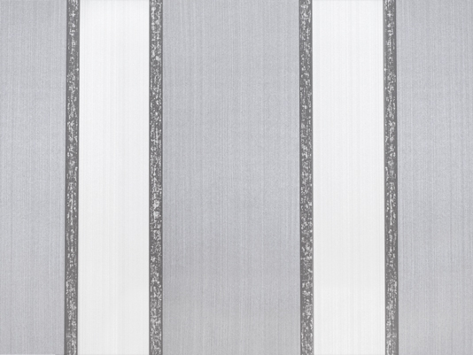 Portland Wallpaper A wide striped strie wallpaper in silver grey and 534x401