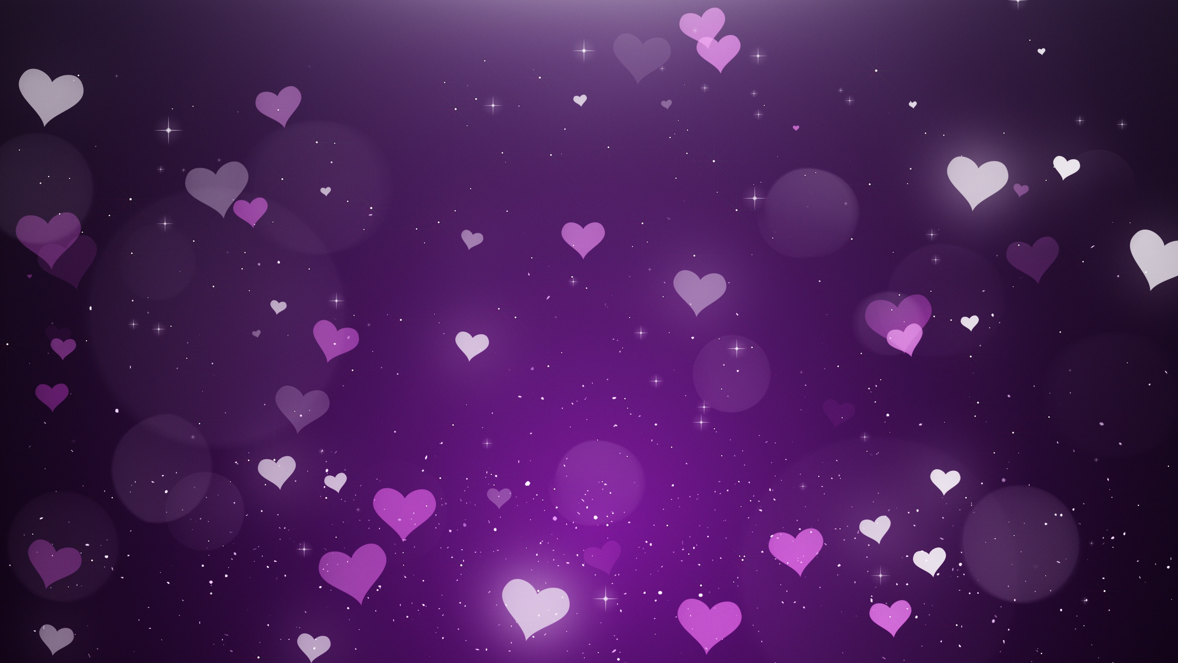 White pink hearts on a violet background Video 84196745 3840x2160