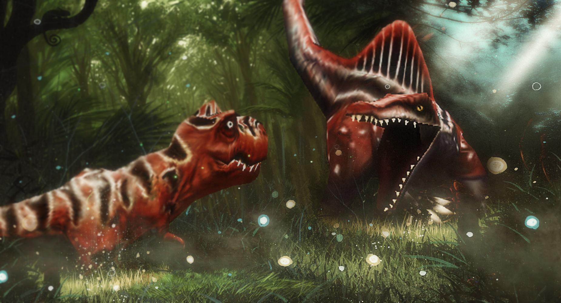 Spinosaurus VS T Rex by IResARTS 1850x1000