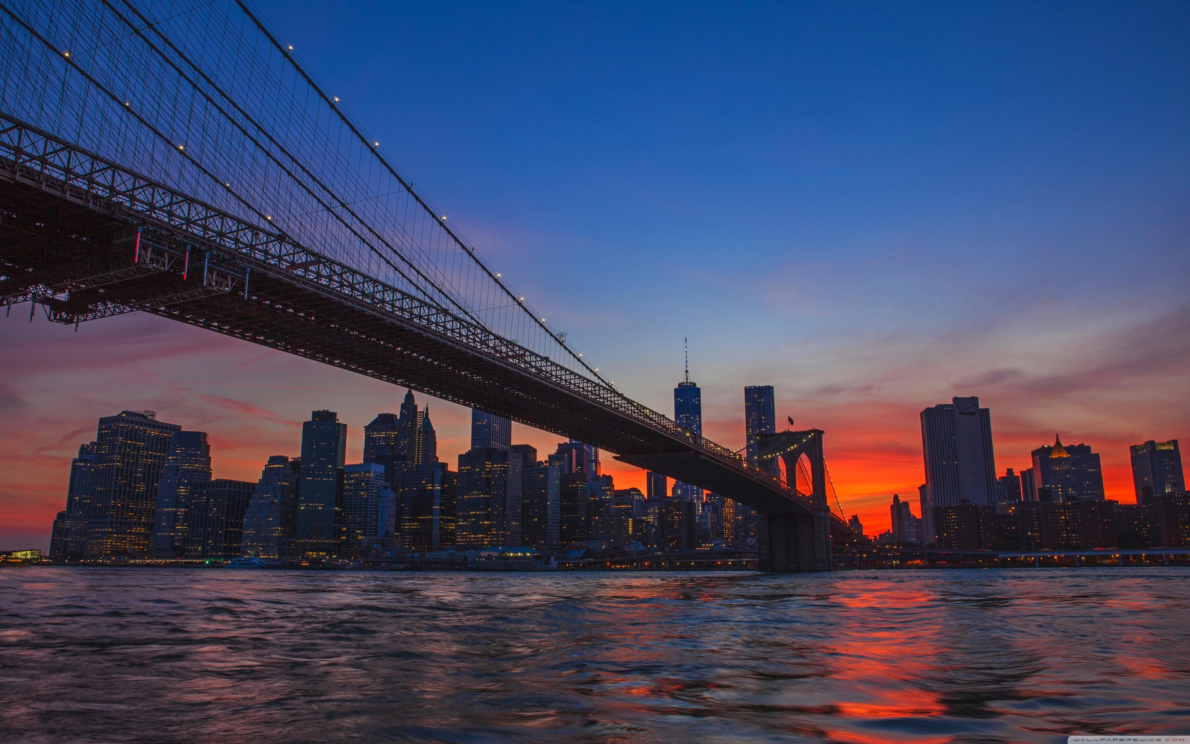 Free Download New York City Brooklyn Bridge View 4k Hd Desktop
