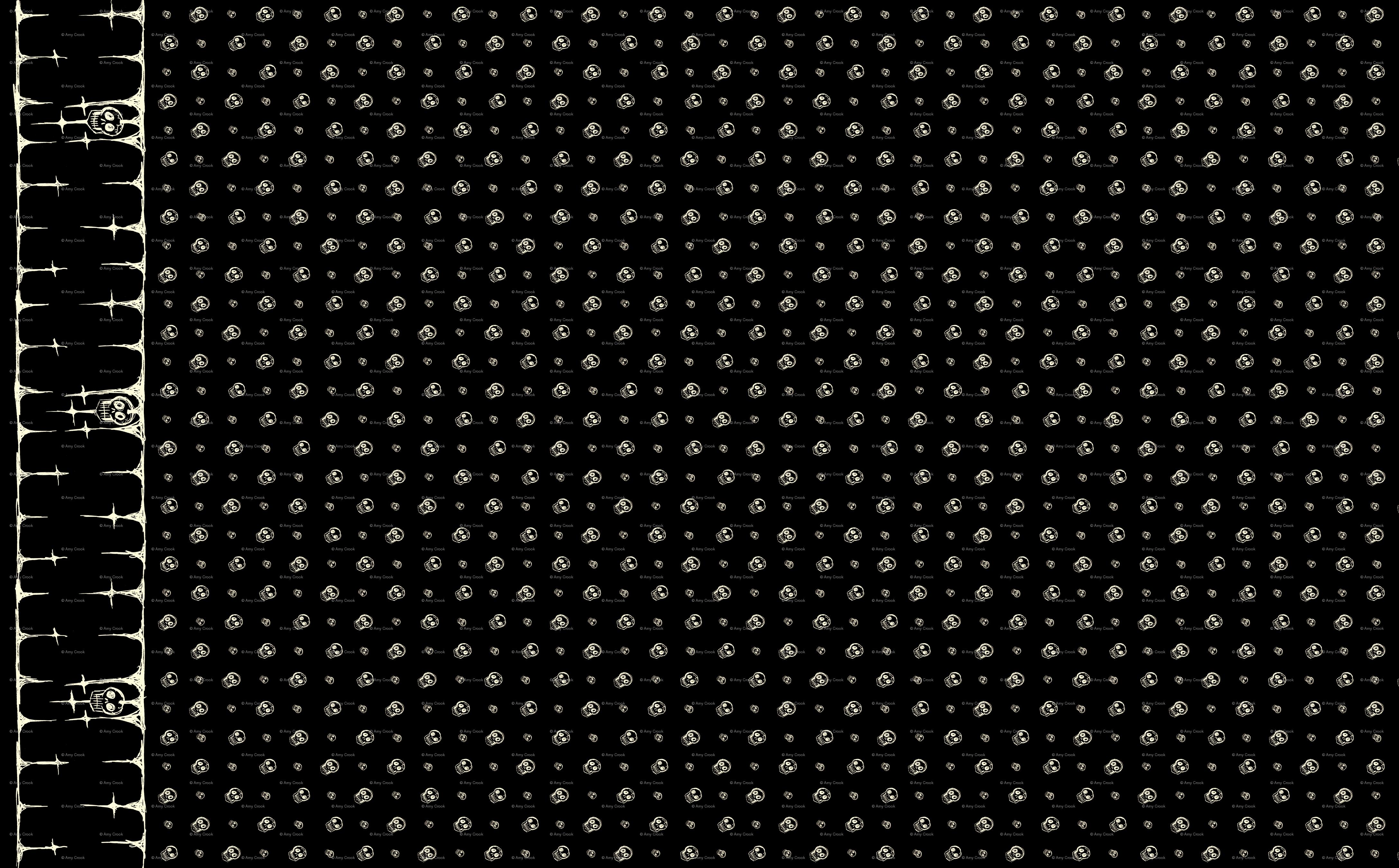 Gothic Wallpaper For Walls Scribble goth   skull border 4350x2700