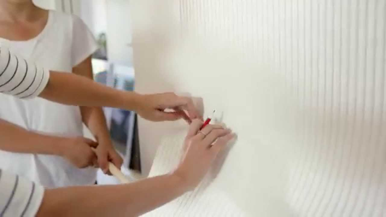 Textured Wallpaper How to Install Easy Hang Wallpaper 1280x720